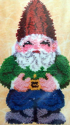 """Craftways Latch Hook   Rug Kit """"a Gnome Shaped Rug"""""""