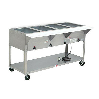 """Advance Tabco HF-4E-120 62"""" Electric 4 Well Hot Food Table w/ SS Top 120v"""