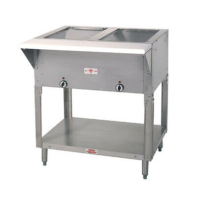 """Advance Tabco HF-2E-240 32"""" Electric 2 Well Hot Food Table w/ SS Top 240V"""