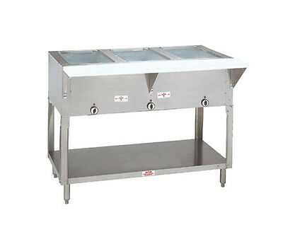 """Advance Tabco HF-3G-NAT 47"""" (3) Well Hot Food Table w/ SS Top Natural Gas"""