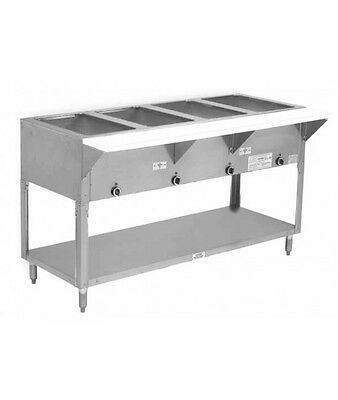 """Advance Tabco HF-4G-LP 62"""" (4) Well Hot Food Table w/ SS Top LP Gas"""