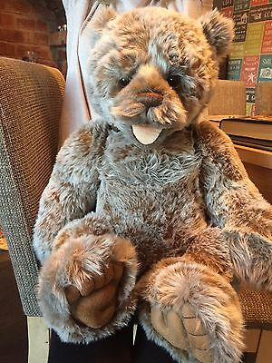 Charlie Bears Bear Barry Jointed, With Bag New Condition