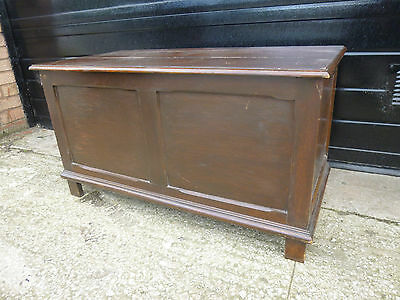 Mid 20th Century Solid Wood Blanket Chest Coffer Box