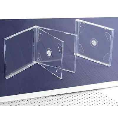10 STANDARD Clear Double CD Jewel Case