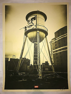 Shepard Fairey Screen Print Icon Water Tower Obey Giant Signed & Numbered