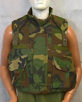 "Us Army Armour Body Fragmentation Vest With Filler 37"" Chest Size Small, Uk Med"