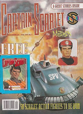 2 Issues Captain Scarlet Comic 1993