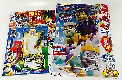 Paw Patrol Magazine X2 Gift Issues - Amazing Free Gifts! (Brand New)