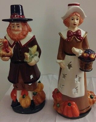 Thanks giving pilgrims Candles or tealight holders.