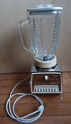 Vintage Osterizer Imperial VIII - Glass 8 Speed Blender #542 Made USA - Tested