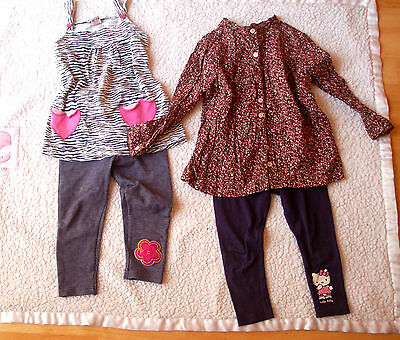 spring bundle  outfit baby girl 18-24 2 Y ditsy tunic