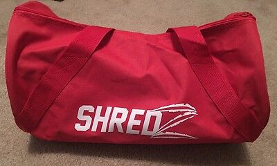 Shredz Supplements New Red Gym Bag w Shoulder Strap Free Shipping and Samples