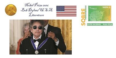 Spain 2016 - Nobel Prize 2016 - Literature - Bob Dylan/USA special cover