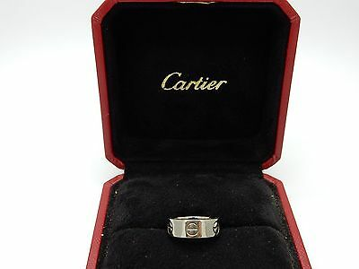 Bague Cartier Mini Love Or gris 18 carats Taille 46