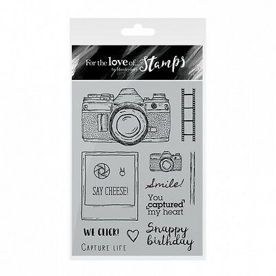Hunkydory For The Love of Stamps Clear Stamp Set - SAY CHEESE!