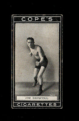 """Cope 1915 Superb Scarce ( Boxing ) Type Card """" # 25 Jim Driscoll -- Boxers """""""