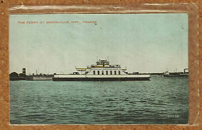 Vintage 1939 The Ferry at Brockville Ontario Canada Postcard