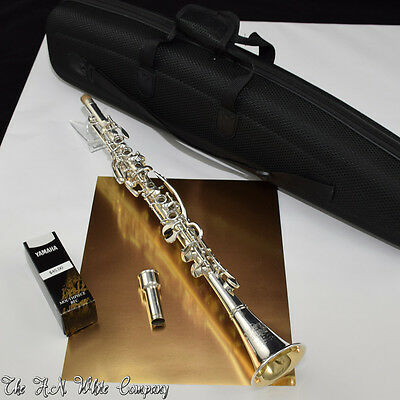 "Rare Vintage H. N. White ""Silver King"" Clarinet Albert System Sterling Silver Be"