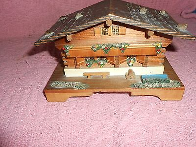 Old Wooden Lador Chalet Music Box