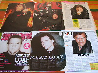 Meat Loaf 8 Italian Magazine Clippings Articles Pinups