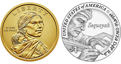 2017 Sacagawea Native American P&D $1 Dollar Coin Set BU In-Stock