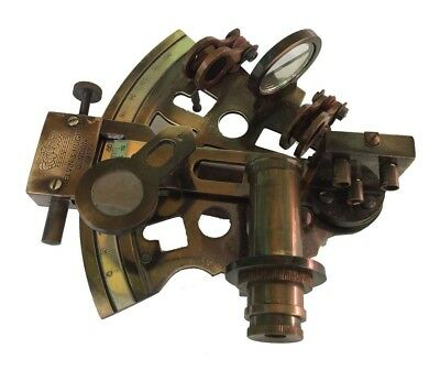 Kelvin Hughes Antique Maritime Brass Sextant Solid Brass Astrolabe Instruments