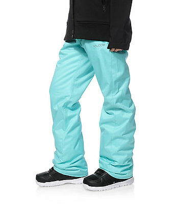 VOLCOM Womens Snowboard Snow Turquoise/Aqua FROCHICKIE INSULATED PANT