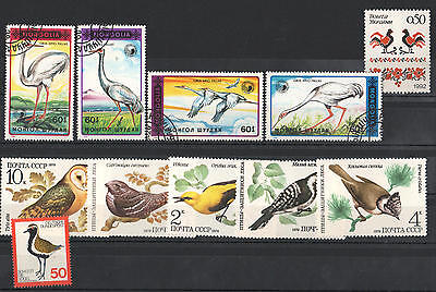 YS-A743 BIRDS - Russia, Mongolia, Ukraine, Germany, Owl