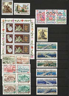 YS-A751 HUNGARY - Lot, Mnh And Used Stamps And Sheets