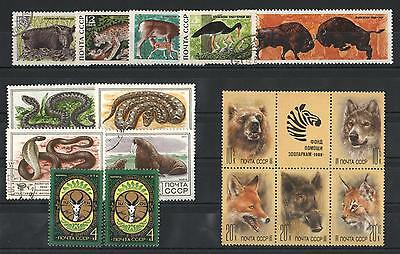 YS-A755 RUSSIA - Fauna, Snakes, Lot Of Mnh And Used Stamps