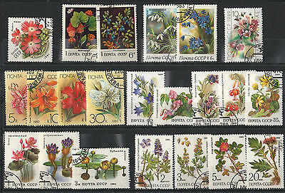 YS-A989 FLOWERS - Russia, Lot Of Used Cto Stamps