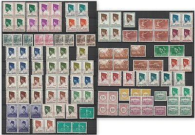 YS-B640 INDONESIA - Lot, Block Of 4, Pairs, Single, Fine Selection Of Stamps MNH