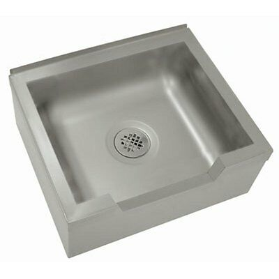 """Advance Tabco 9-OP-40DF-X 20"""" x 16"""" x 12"""" Stainless Mop Sink Floor Mounted"""