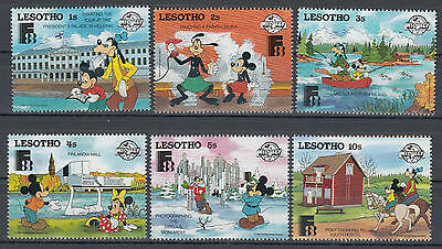 YS-C012 WALT DISNEY - Finland, Lesotho, 1988, Mickey Mouse And Goofy MNH