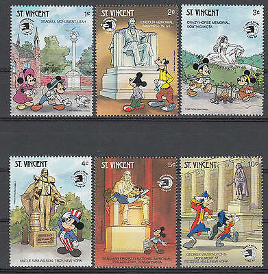 YS-C017 DISNEY - Usa, St. Vincent, World Stamp Expo, Lincoln Statue MNH