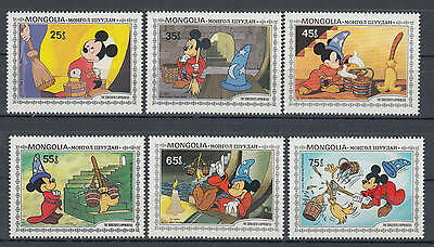 YS-C028 WALT DISNEY - Cartoons, Mongolia, The Sorcerer's Apprentice MNH
