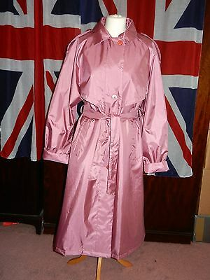 Vintage Raincoat Nylon & Rubberised Polyester Glossy Trench Mac Fabulous 16