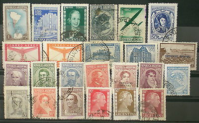 YS-C111 ARGENTINA - Lot, With Evita, Cow, Airmail Old Stamps Used