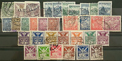 YS-C121 CZECHOSLOVAKIA - Lot, Old Stamps, Some Overprinted Used