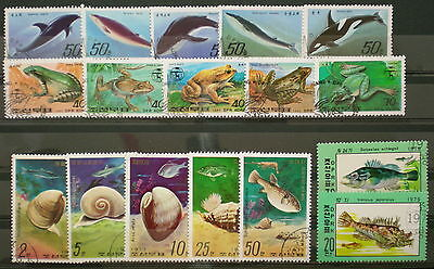 YS-C123 MARINE LIFE - Frogs, Whales, Fish, Shells, Used Rare Stamps Used
