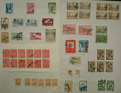 YS-C198 ARGENTINA - Lot, Accumulation Of Old Stamps, Some Repeated Used
