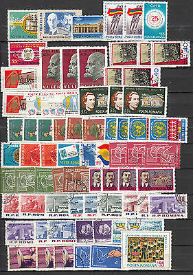 YS-C415 ROMANIA - Lot, Accumulation Of Stamps, With Some Repeated Used