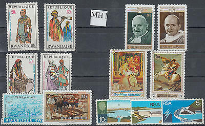 YS-C420 AFRICA LOT - Lot, Selection F Stamps, Costumes, Poep, Napoleon MH