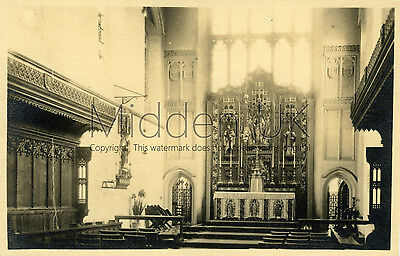 RA008 Early RP POSTCARD - Chapel of St Raphael - Knowle - Bristol - Dated 1945