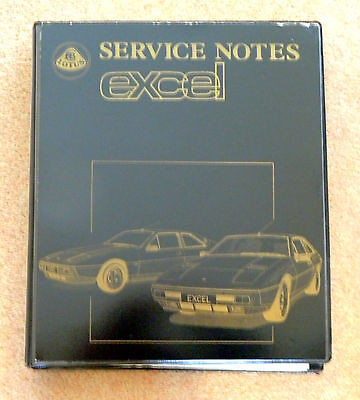 Lotus Excel Genuine Car Service Notes Manual