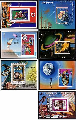 YS-D026 SPACE - Korea, Fine Lot Of 7 Different Sheets Used