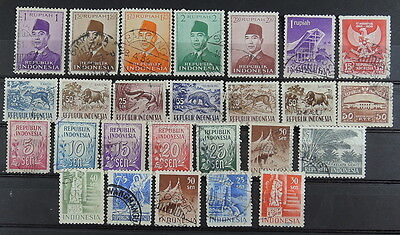 YS-D082 INDONESIA - Lot, Ordinary Values With President Sukarno Used