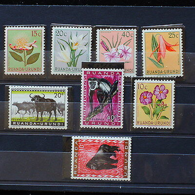 YS-D745 FLOWERS - Rwanda, Urundi, Monkeys, Fine Selection Of Stamps MH