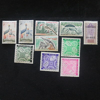 YS-E003 NIGER IND - Lot, Birds, Timbre Taxe, Old Stamps Used
