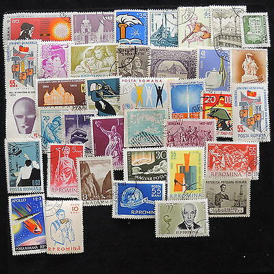 YS-E085 ROMANIA - Lot, Old Stamps Used
